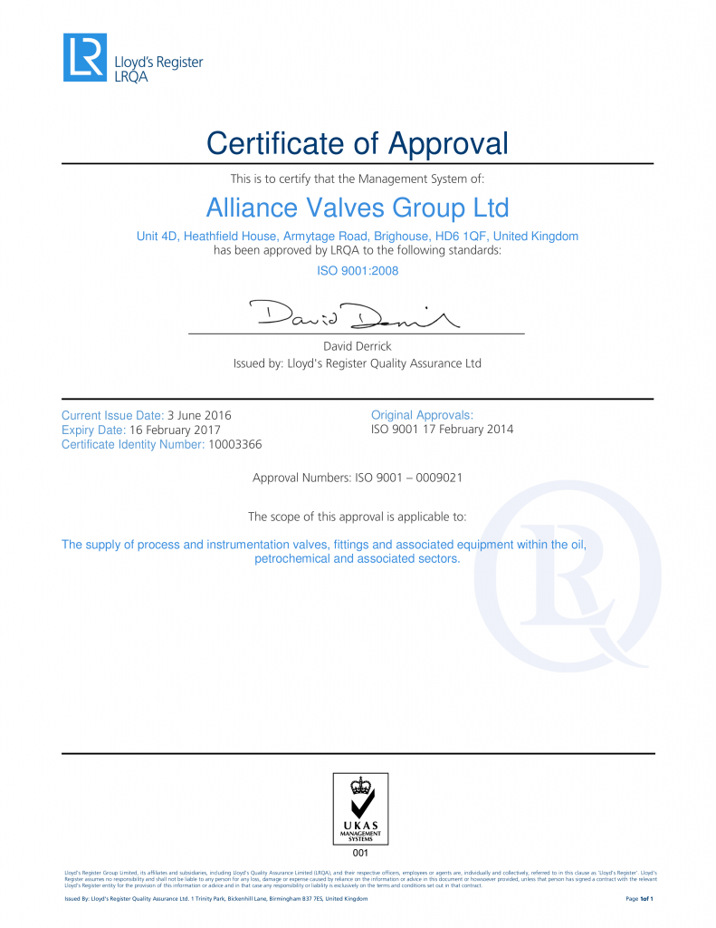 LRQA Certificate ISO9001:2008